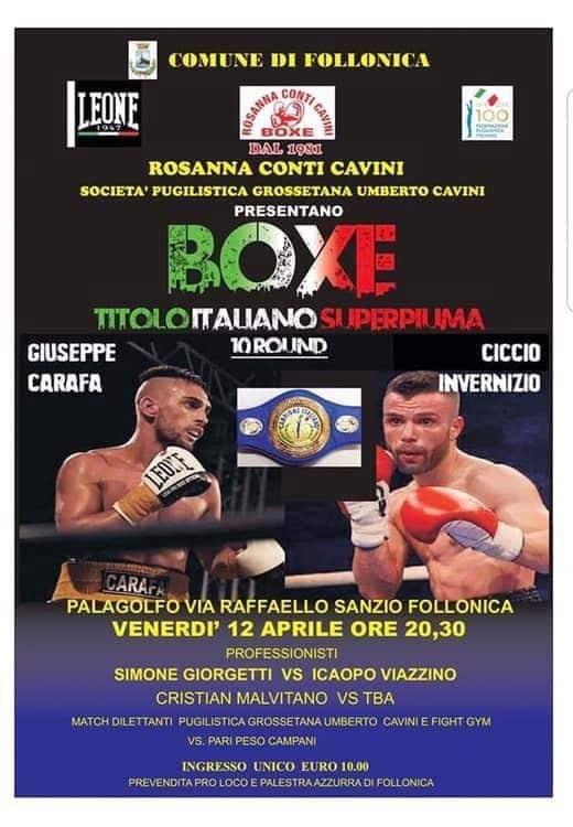Titolo Italiano di Pugilato Superpiuma - Carafa vs